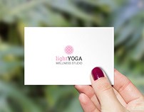light yoga WELLNESS STUDIO | Studio immagine coordinata