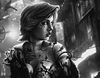 Cyberpunk rebel concept art