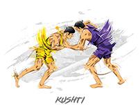 Indian Regional Sports Illustrations
