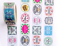 Food label Washi tape