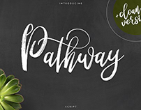 Pathway script. Free font