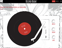 Record Room: Website Design