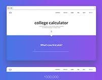 DailyUI 004 - College cost calculator