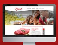 Zimmer website design