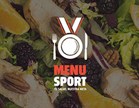 MENU SPORT · Branding - Packaging / Diseño Web
