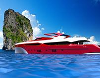 Red Sunseeker Sport Yacht 155
