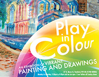 Play in Colour exhibition identity and show