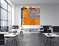 Paintings in Room Settings by Kathleen Mooney
