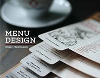 United Coffee Beans Menu Design