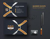 Barber shop Free Business Card