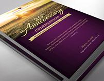 Church Anniversary Program One Sheet Word Publisher Tem