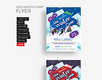 Kids Winter Camp Flyer