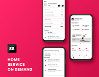 Home services mobile app ui kit