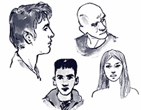 Head Sketches in Gemini