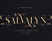 Salvalyn - Stylistic Serif Font (Free Download)