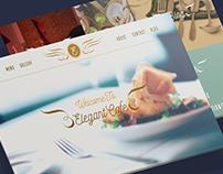 Elegant Cafe - Landing Page