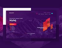 Adam1 logo and website redesign
