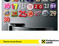 Raiffeisenbank calendar press design