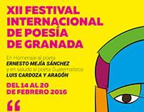 Afiche Festival Internacional de Poesía Granada 2016