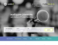IT speaker concept website