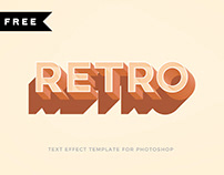 FREE | Retro Text Effect