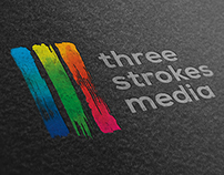 three strokes media - corporate identity and sationery