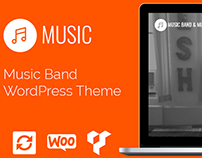 Music WordPress Theme - Responsive Website Builder