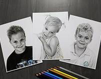 'Kian, Kadence & Tyler' - Pencil Portraits
