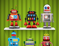 Old Robot toys