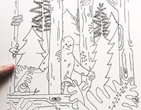 Illustrated Oregon Coloring book