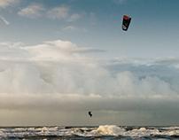 Kitesurfer, Egmond aan Zee, 2016