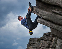 Alex Honnold in Stanage