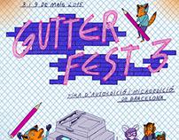 Gutter Fest 3 // poster & leaflet