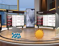 Weather Virtual Set (Low Poly)