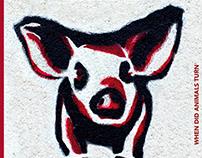 Elephant Magazine Cover/Stencil- Veganism