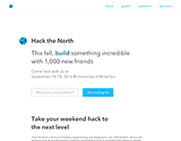 Hack the North Landing Page