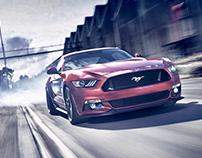 Ford Mustang Retouching Grade.