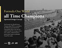 Formula 1 - All Time Champs Sportcard Design Concept