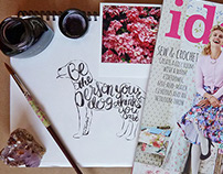 Hand Lettering for Ideas Magazine