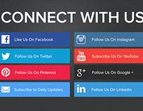 Minimalist Social Sharing Button