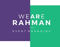 WE ARE RAHMAN Event Branding