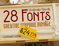 Creative Surprise Bundle vol.1 – 28 Fonts