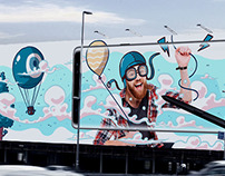 Samsung Galaxy Note8 - Outdoor Illustration Campaign