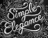 Simple Elegance chalk mural