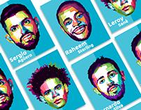 Manchester City player Illustration