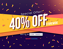 Special Offer: Big Saving Up to 40% OFF Storewide