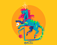 Alebrije - Lion and Unicorn Character Design Challenge