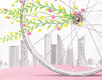 A bicycle's illustration for Urban public welfare
