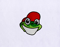 SMILEY FROG FACE MACHINE EMBROIDERY DESIGN