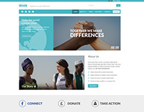 Free - Wiin - PSD Template for Charity Organisation